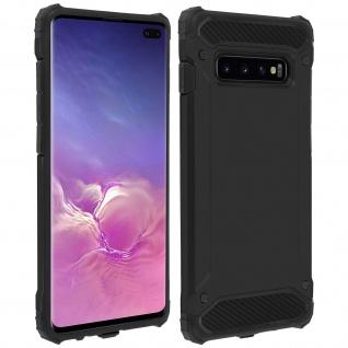 Defender II schockresistente Schutzhülle Samsung Galaxy S10 Plus - Schwarz