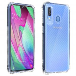 Samsung Galaxy A40 360° Premium Schutz-Set, mit Metallplättchen - Transparent