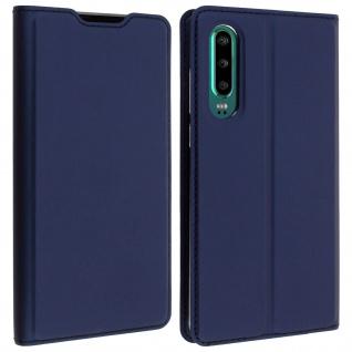 Klappetui mit Kartenfach & Standfunktion Huawei P30 Dunkelblau