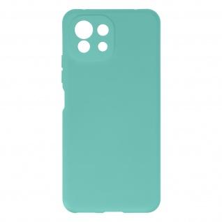 Halbsteife Silikon Handyhülle für Xiaomi Mi 11 Lite, Soft Touch ? Türkisblau