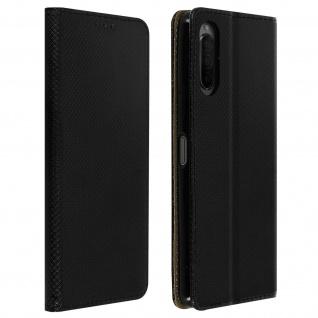 Wallet Cover, Klapphülle für Sony Xperia 10 II, Kartenfach und Ständer ? Schwarz