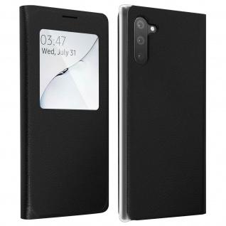 S-View Flip Cover mit Sichtfenster & Kartenfach für Galaxy Note 10 - Schwarz