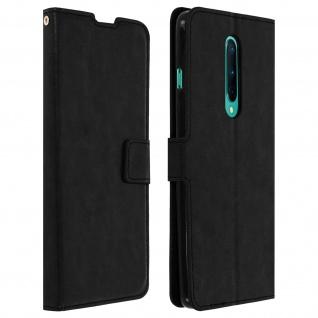 Flip Stand Case Brieftasche & Standfunktion für OnePlus 8 - Schwarz