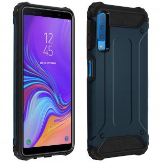 Defender II schockresistente Schutzhülle (1, 80M) für Galaxy A7 2018 - Blau