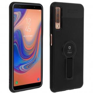Magnethülle, Silikonhülle für Samsung Galaxy A7 2018, Standcase - Schwarz