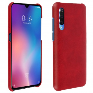Hardcase, Polycarbonat Schutzhülle Xiaomi Mi 9, Vintage Case - Rot