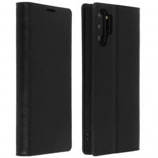 Business Leder Cover, Schutzhülle mit Geldbörse Galaxy Note 10 Plus - Schwarz