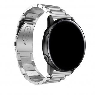 Galaxy Watch Active2 40mm Edelstahl Armband mit Doppelfaltschließe ? Silber