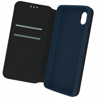 Kunstleder Cover Classic Edition, Klappetui für Samsung A01 Core â€? Dunkelblau