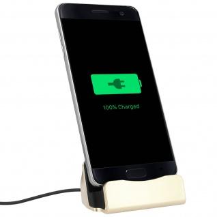 Smartphone Ladestation Aufladen & Synchronisierung Micro-USB Anschluss - Gold