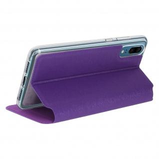 Huawei P20 Flip Cover Sichtfenster & Kartenfach Violett, Silikon - Standfunktion - Vorschau 5