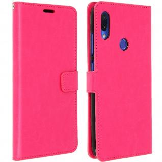 Flip Stand Cover Brieftasche & Standfunktion für Xiaomi Redmi Note 7 - Rosa