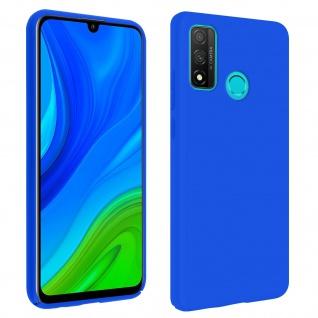 Halbsteife Silikon Handyhülle Huawei P smart 2020, Soft Touch - Blau