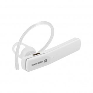 Wireless Mono-Bluetooth Headset Multipoint-Verbindung, Swissten â€? Weiß