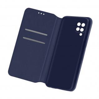 Kunstleder Cover Classic Edition, Klappetui für Samsung Galaxy M12 â€? Dunkelblau