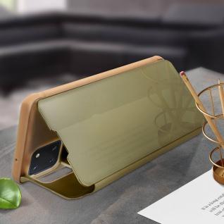 Mirror Klapphülle, Spiegelhülle für Samsung Galaxy Note 10 Lite - Gold - Vorschau 3