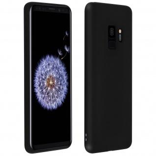 Schutzhülle aus Silikon für Samsung Galaxy S9 - Schwarz Matt