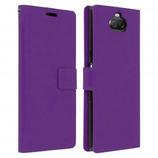 Flip Stand Cover Brieftasche & Standfunktion für Sony Xperia 10 - Violett