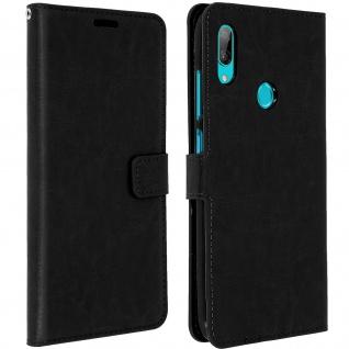 Flip Stand Cover Brieftasche & Standfunktion für Huawei Y7 2019 - Schwarz