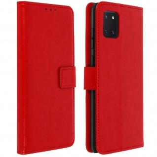 Flip Stand Case Brieftasche & Standfunktion Samsung Galaxy Note 10 Lite � Rot