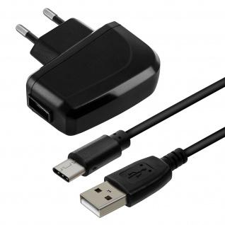 Bluestar Wand Ladegerät 2A + 1m langes USB-C Ladekabel - Schwarz
