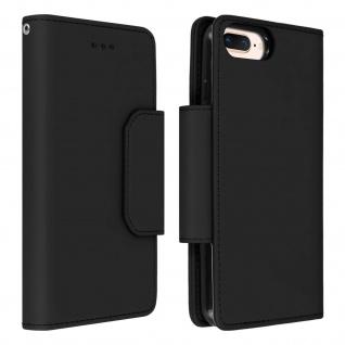 Soft Touch Klappetui mit Hülle für iPhone 6 Plus/6S Plus/7 Plus/8 Plus ? Schwarz