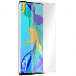 Folie Huawei P30 Pro Displayschutz Abgerundete Kanten Sicherheitsglas 9H Transp.