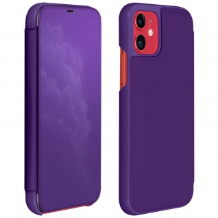 Apple iPhone 11 Flip Cover mit Spiegeleffekt & Standfunktion - Violett
