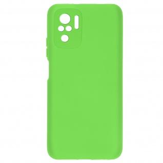 Halbsteife Silikonhülle für Xiaomi Redmi Note 10 / Note 10s, Soft Touch ? Grün