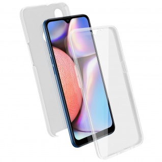Schutzhülle für Samsung Galaxy A10s, Vorder- + Rückseite ? Transparent