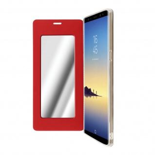 Spiegel Hülle, dünne Klapphülle für Samsung Galaxy Note 8 - Rot