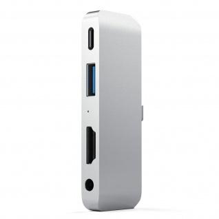 USB-C Multiport Adapter, USB 3.0, HDMI und 3.5mm Klinkenstecker Satechi - Silber