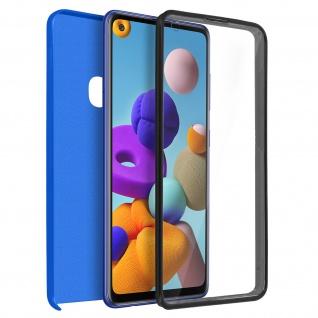 Schutzhülle für Samsung Galaxy A21s, Vorder- + Rückseite ? Blau