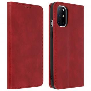 OnePlus 8T Kunstlederhülle mit Kartenfach & Standfunktion ? Rot