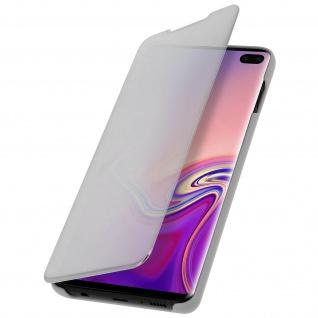 Samsung Galaxy S10 Plus Flip Cover mit Spiegeleffekt & Standfunktion - Silber