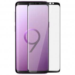 9H kratzfeste Glas-Displayschutzfolie für Samsung Galaxy S9 - Schwarz
