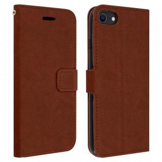 Flip Stand Case Brieftasche & Standfunktion für iPhone 7 / 8 / SE 2020 ? Braun