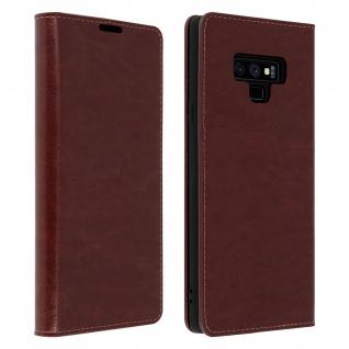 Business Leder Cover, Schutzhülle mit Geldbörse für Galaxy Note 9 - Braun