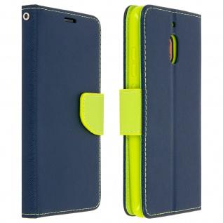 Fancy Style Flip-Cover für Nokia 2.1, Kartenfach & Standfunktion - Blau