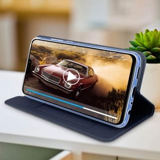 Dux Ducis Flip Cover Honor 8X/View 10 Lite mit Kartenfach & Standfunktion - Blau - Vorschau 5