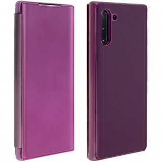 Samsung Galaxy Note 10 Flip Cover mit Spiegeleffekt & Standfunktion - Violett