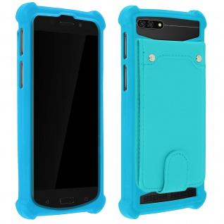 Schockabsorbierende Hülle für Smartphones zwischen 5.0'' und 5.3'' - Türkisblau