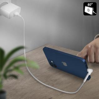 USB / Lightning Kabel mit abgewinkeltem Stecker 1m Inkax CK71 ? Weiß - Vorschau 3