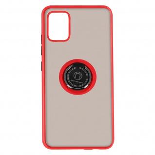 Hybrid Handyhülle mit Ring-Halterung für Galaxy A51 ? Rot