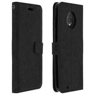 Flip Cover Stand Case Brieftasche & Standfunktion für Motorola Moto G6 - Schwarz