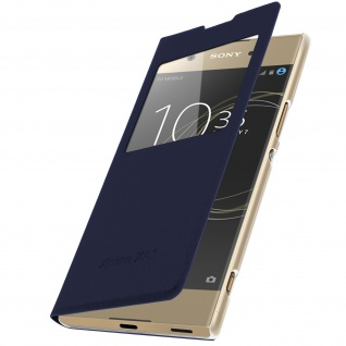 Ultradünne Flip Cover Schutzhülle für Sony Xperia XA1 - Dunkelblau