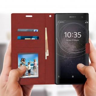 Flip Stand Cover Brieftasche & Standfunktion Sony Xperia XA2 Plus - Braun - Vorschau 4