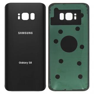 Ersatzteil Akkudeckel, neue Rückseite für Samsung Galaxy S8 - Schwarz