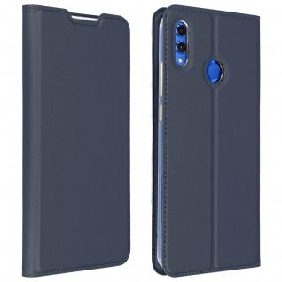 Dux Ducis Flip Cover Honor 8X/View 10 Lite mit Kartenfach & Standfunktion - Blau