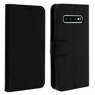 Flip Stand Cover Brieftasche & Standfunktion für Samsung Galaxy S10 - Schwarz